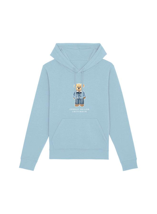 ESSENTIAL Hoodie - Signature Teddybear in denim outfit - Sky blue