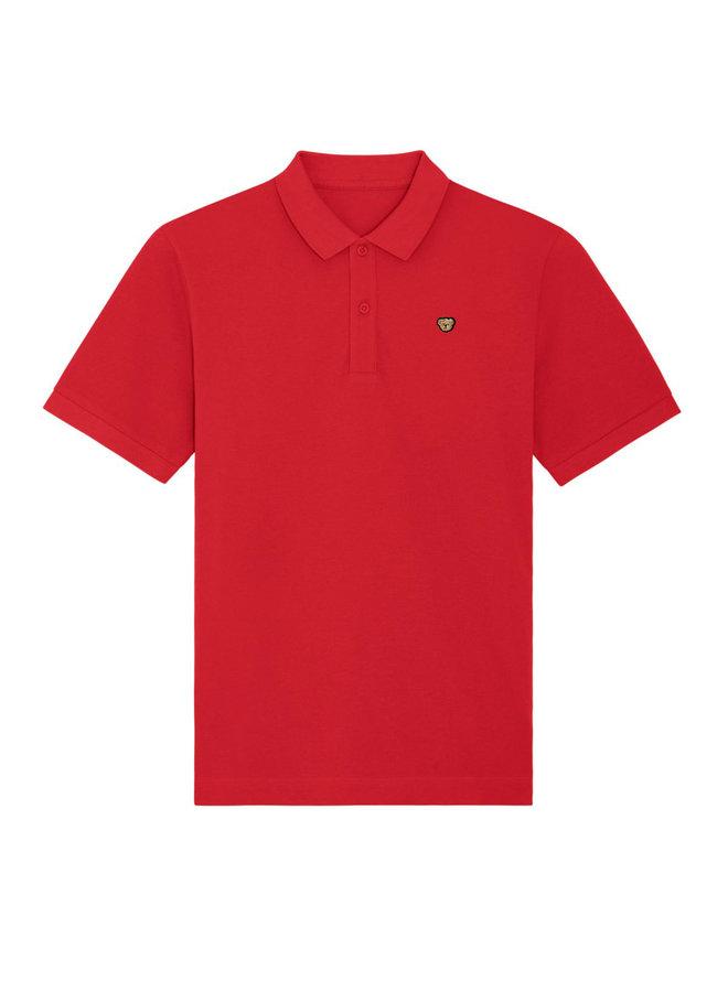UNISEX POLO - Signature Teddybear embroidery -Red
