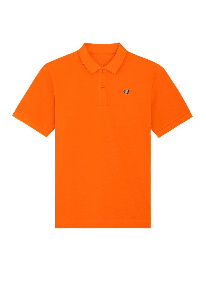 UNISEX POLO- Signature Teddybear embroidery -Orange
