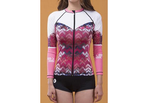Cielle Marin Cielle Marin UV50+ Long Sleeves Zip Rashguard - Women's