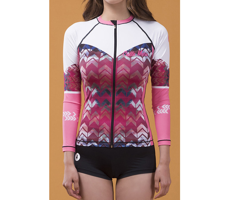 Cielle Marin UV50+ Long Sleeves Zip Rashguard - Women's