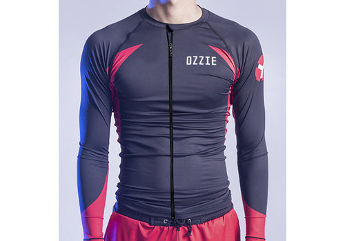 Ozzie Ozzie UV50+ Long Sleeves Zip Rashguard - Men's