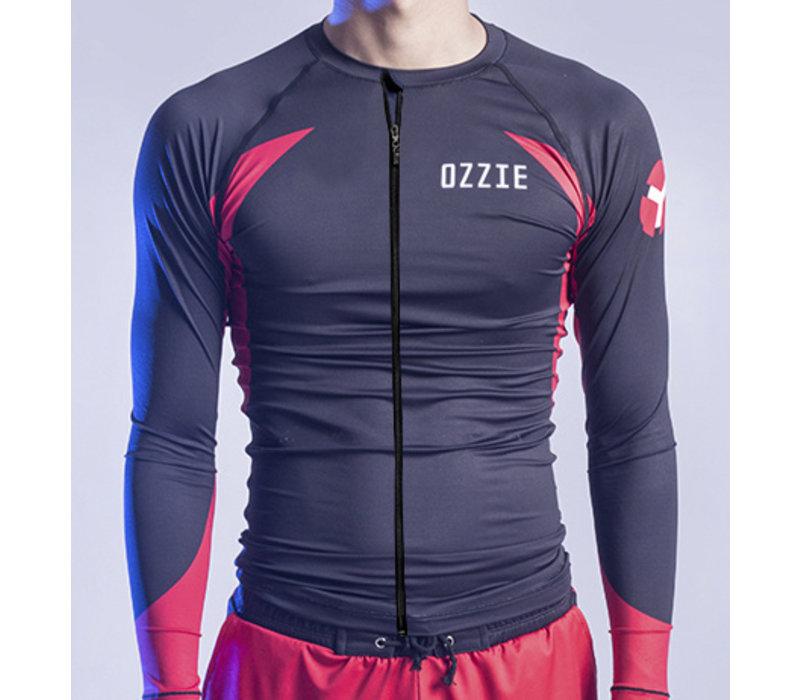 Ozzie UV50+ Long Sleeves Zip Rashguard - Men's