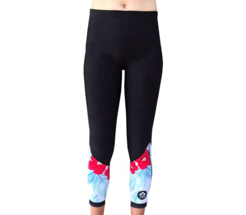 Azur Hibiscus Thermal Tights
