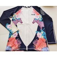 Ozzie Zip Long Sleeves UPF50+ Rashguard - Girls