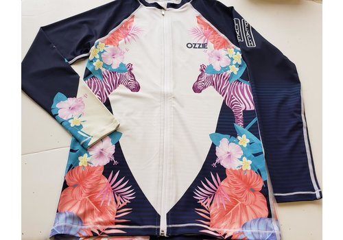 Ozzie Ozzie Zip Long Sleeves UPF50+ Rashguard - Girls