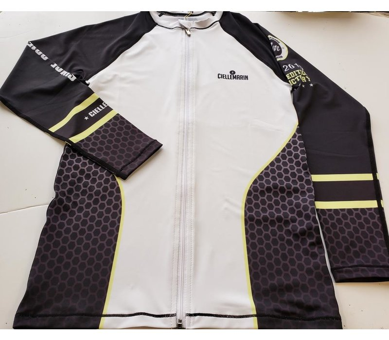 Cielle Marin Zip Long Sleeves UPF50+ Rashguard - Men's