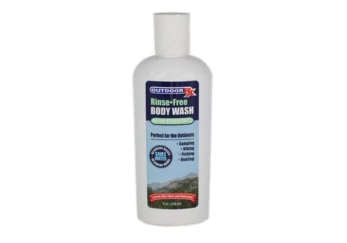 Outdoor RX Outdoor RX Rinse Free Body Wash, 8oz/237ml