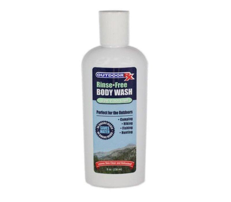 Outdoor RX Rinse Free Body Wash, 8oz/237ml