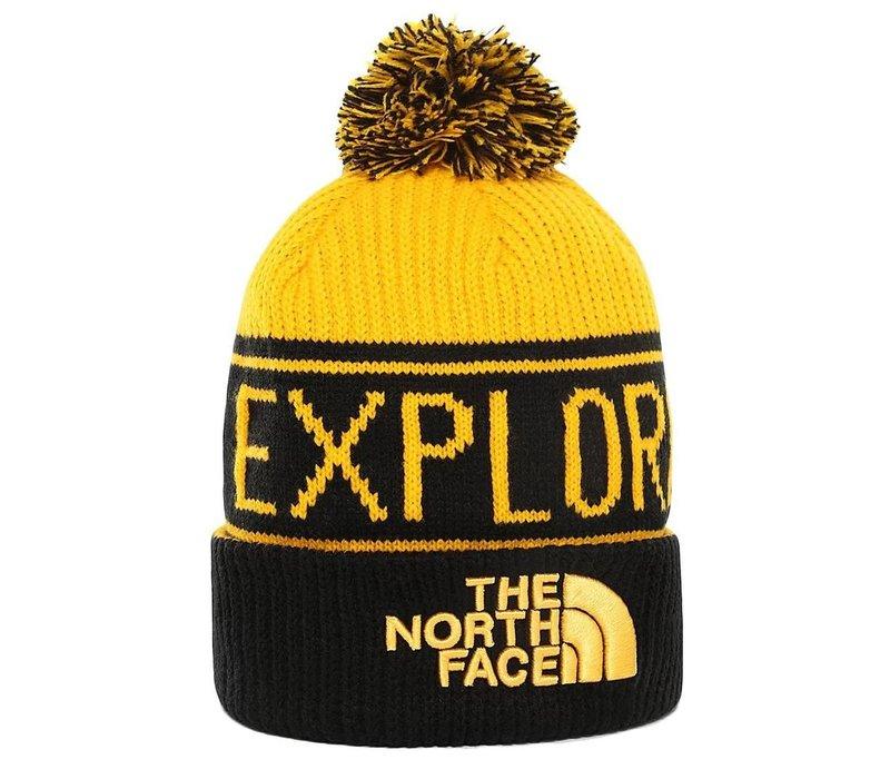 The North Face Retro TNF Pom Beanie