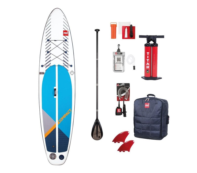 Red Paddle Co Compact 11' Inflatable 8kg SUP Board Package 2020