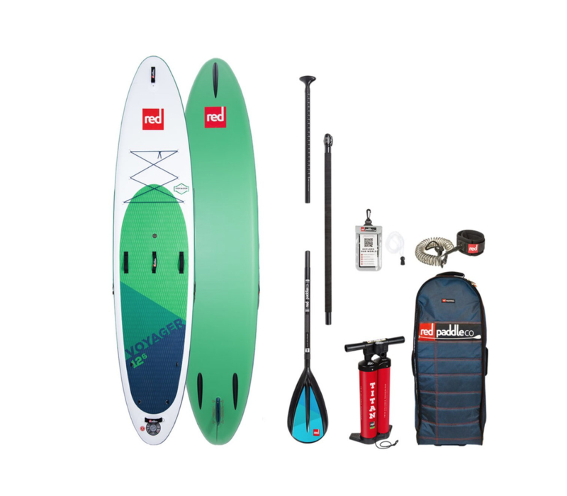 """Red Paddle Co Voyager 12'6"""" MSL Inflatable SUP Board Package  2020"""