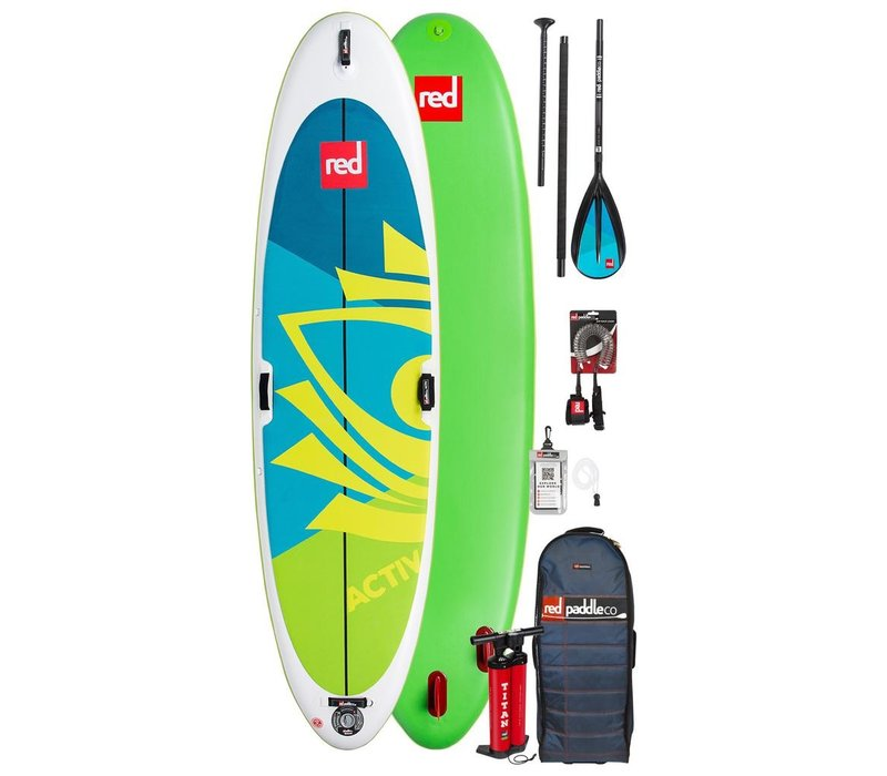 "Red Paddle Co Activ 10'8"" Inflatable SUP Board Package 2020"