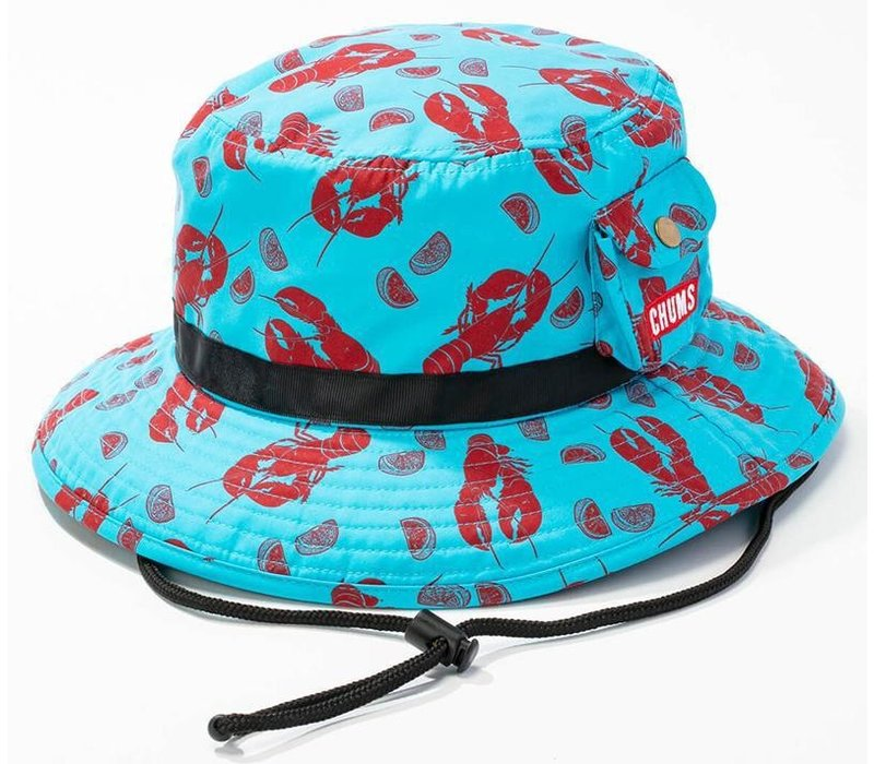 Chums Lightning Mountain Hat, Teal Lobster