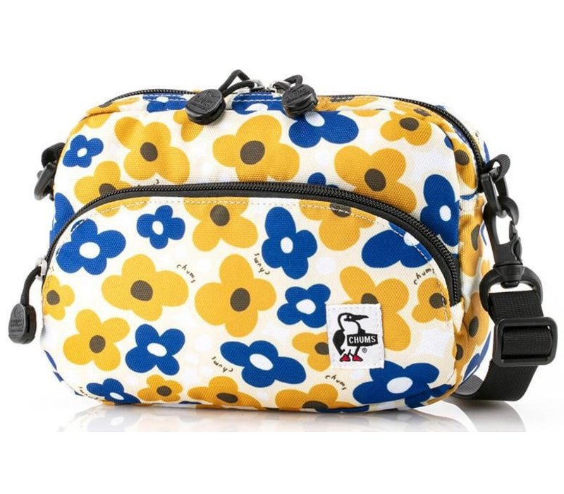 Chums ECO Shoulder Pouch, Yellow Flower