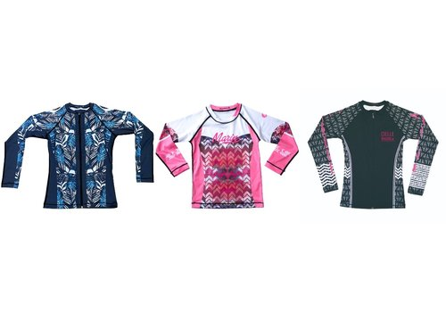 Cielle Marin Cielle Marin Zip Long Sleeves UPF50+ Rashguard - Girls