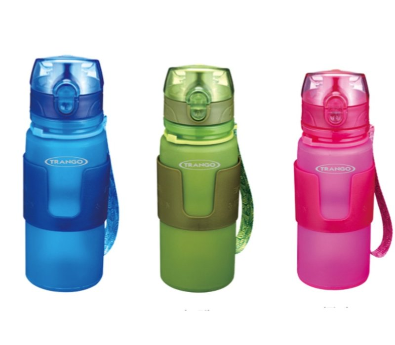 Trango One-touch Silicone Collapsible Water Bottle 350ml