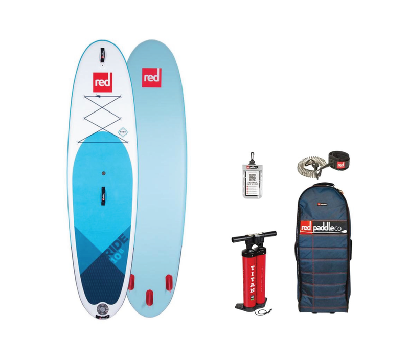 """Red Paddle Co Ride 10'6"""" MSL Inflatable SUP Board Package 2020"""