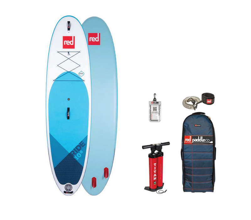 """Red Paddle Co Ride 10'8"""" MSL Inflatable SUP Board Package 2020"""