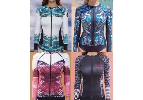 Cielle Marin Cielle Marin Zip Long Sleeves UPF50+ Rashguard - Women's