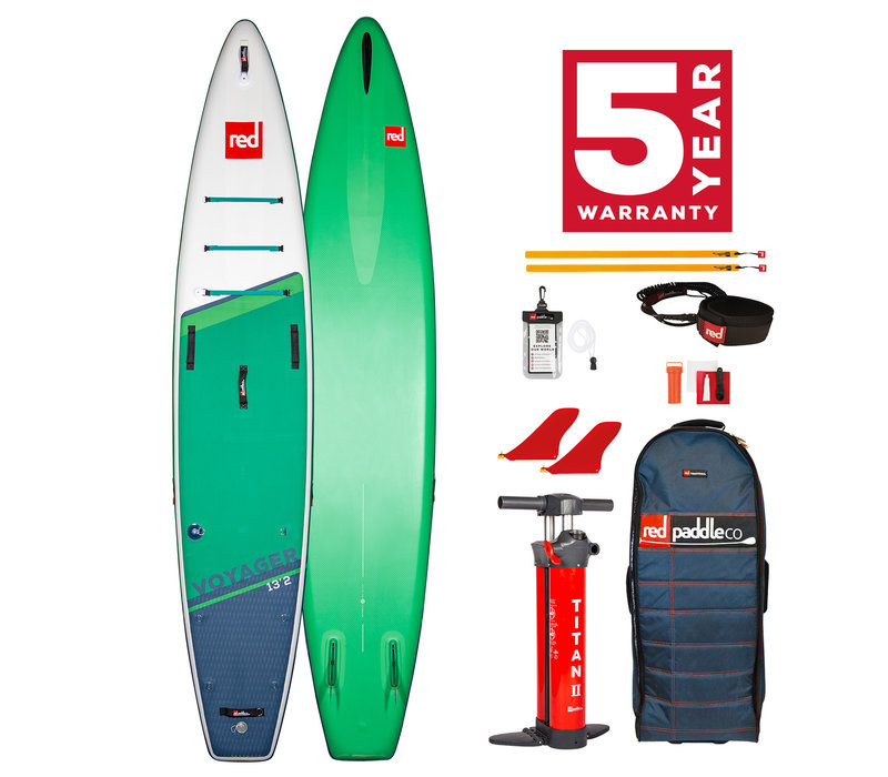 """Red Paddle Co Voyager 13'2"""" MSL Inflatable SUP Board Package 2021"""