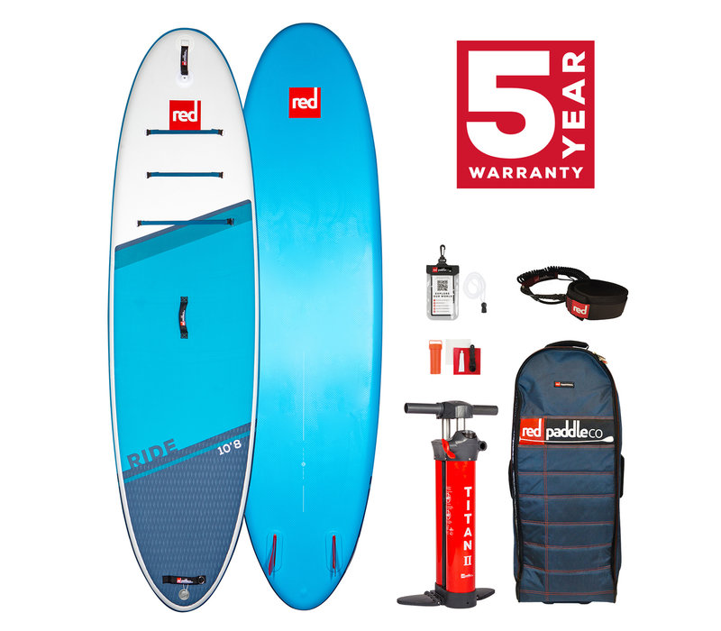 "Red Paddle Co Ride 10'8"" MSL Inflatable SUP Board Package 2021"