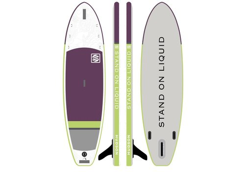 """Stand On Liquid Stand On Liquid Hudson Air 10'6"""" Inflatable Paddle Board, Plum"""
