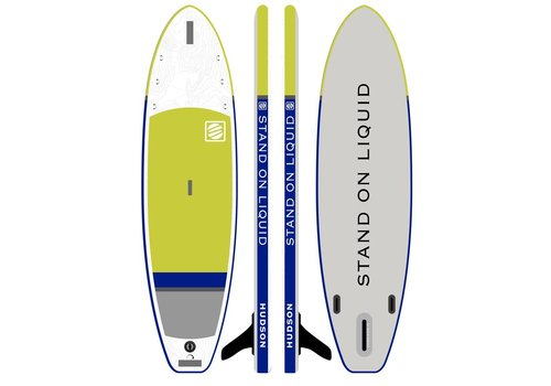 """Stand On Liquid Stand On Liquid Hudson Air 10'6"""" Inflatable Paddle Board, Neon Green"""