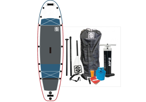"""Stand On Liquid Stand On Liquid Atlantic 11'0"""" Inflatable Paddle Board, Red & Grey"""
