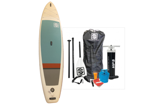 """Stand On Liquid Stand On Liquid Newport Air 11'6"""" Inflatable Paddle Board, Red & Teal"""