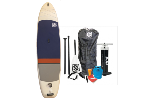 """Stand On Liquid Stand On Liquid Caspian Air 11'0"""" Inflatable Paddle Board, Red & Teal"""