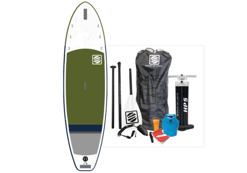 """Stand On Liquid Stand On Liquid Hudson Air 10'6"""" Inflatable Paddle Board, Olive"""