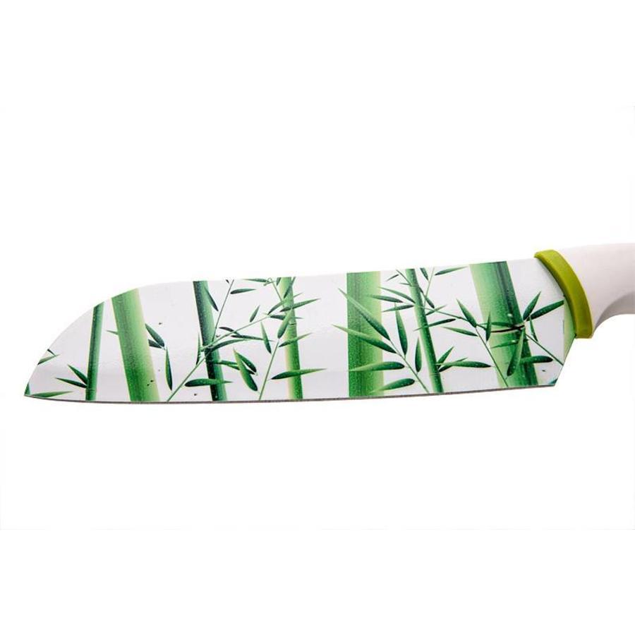 Messer-Set mit Bambus-Motiv auf Klinge