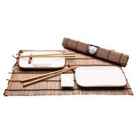 Japanisches Tischgedeck für zwei Personen aus Edelholz