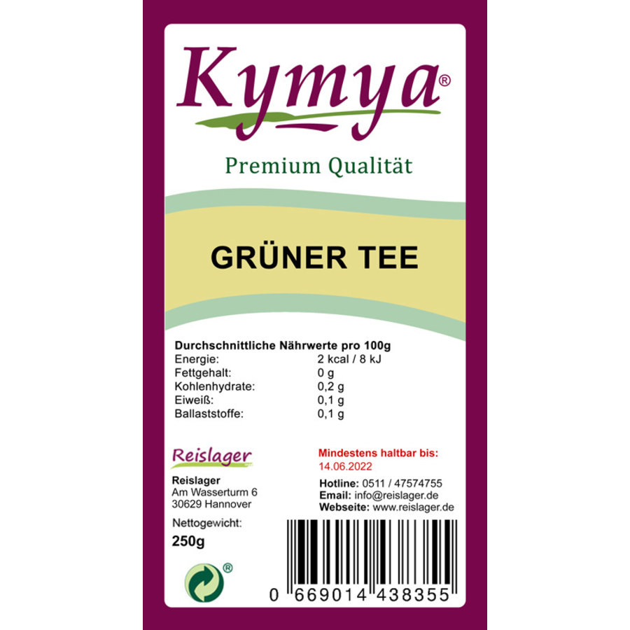 Grüner Tee Premium Qualität 250g - Loser Tee