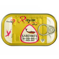 Sardinen mit Haut und Gräten in Sonnenblumenöl mit Chili 125g Rayan