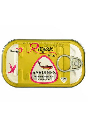 Sardinen in Sonnenblumenöl 125g Rayan