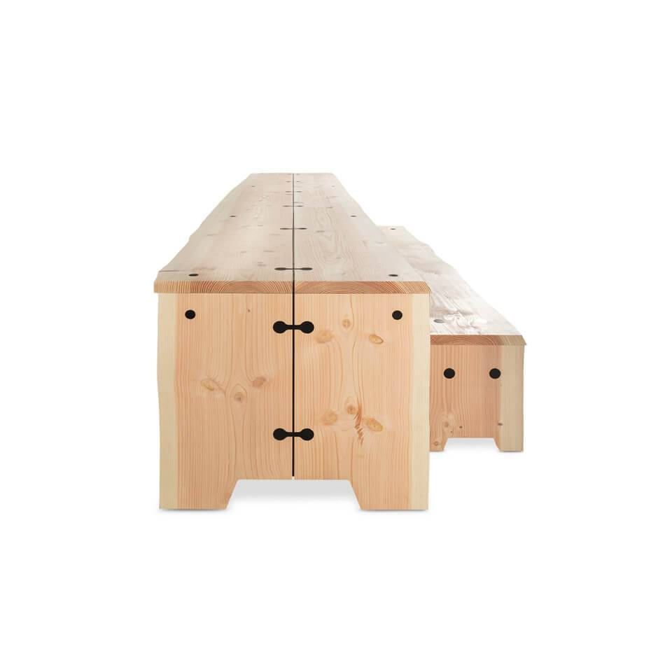 Forestry Table hout 6 persoons - Outdoor Tafel Buiten