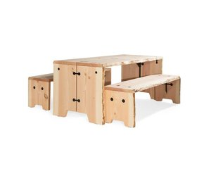 6 Persoons Tafel : Weltevree forestry table hout persoons outdoor tafel buiten