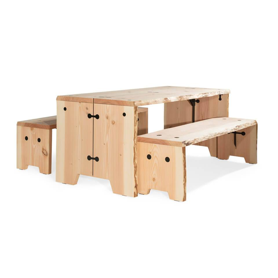 Forestry Table hout 8 persoons - Outdoor Tafel Buiten