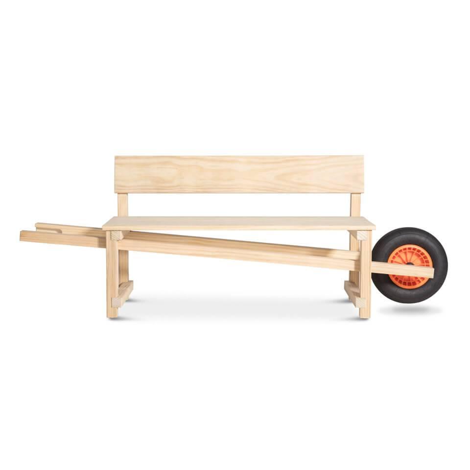 Wheelbench Oak Wood Eiken Hout