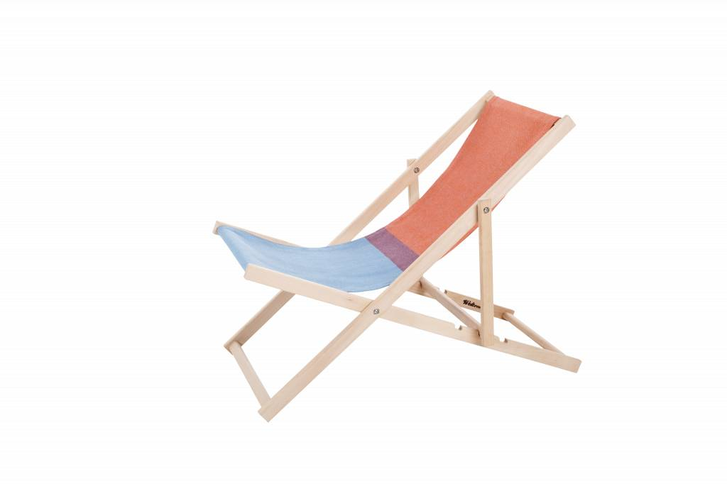 Beach Chair Red/Blue - Strandstoel Rood/Blauw