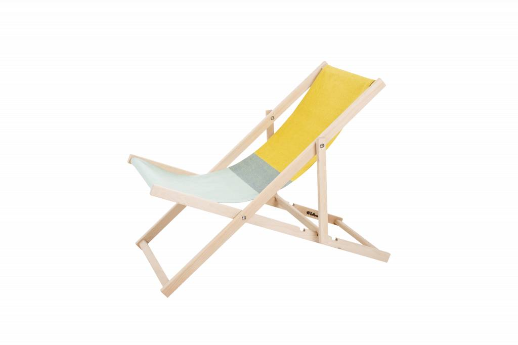 Beach Chair Yellow/Green - Strandstoel Geel/Groen