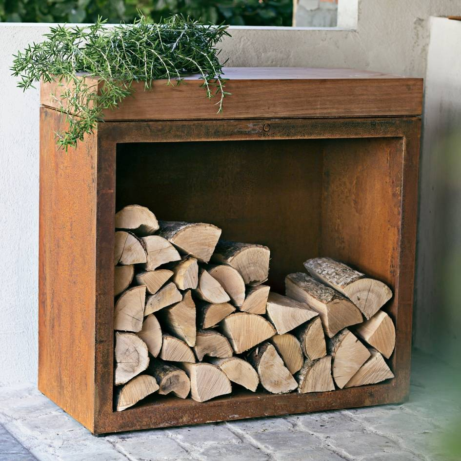 OFYR Butcher Block Storage 90 Teak Wood