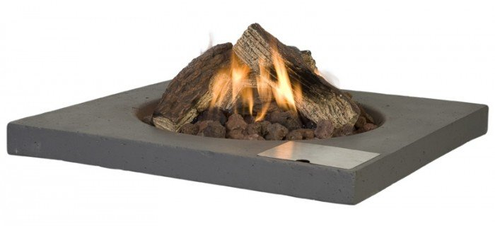 Vuurtafel Driftwood  Vierkant