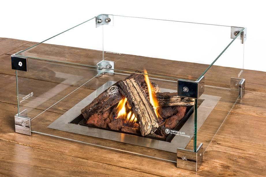 Cocoon Table Glazen Ombouw (vierkant)