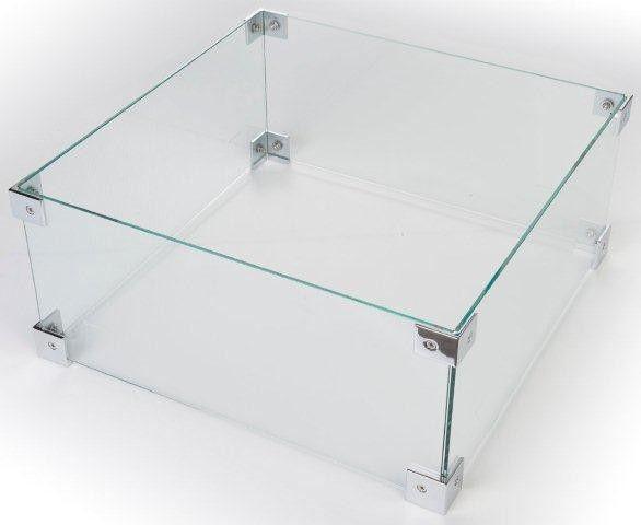 Cocoon Table Glazen Ombouw Vierkant Klein voor Cocoon Table