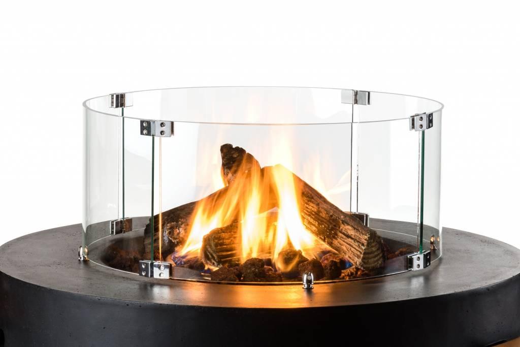 Cocoon Table Glazen Ombouw (rond)