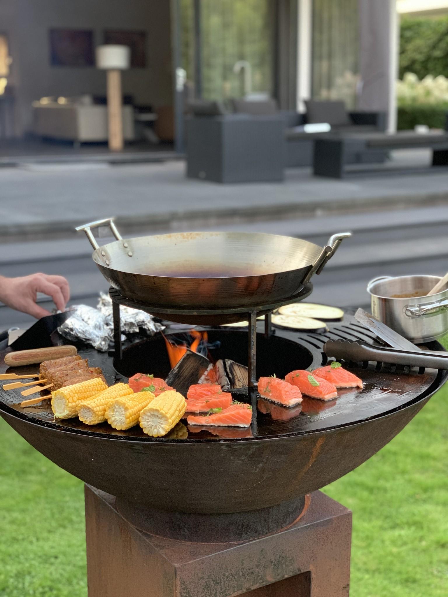 GrillRing set 90 BBQ met houtopslag