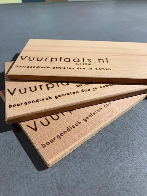 Cederhouten Plankjes 3 stuks voor BBQ